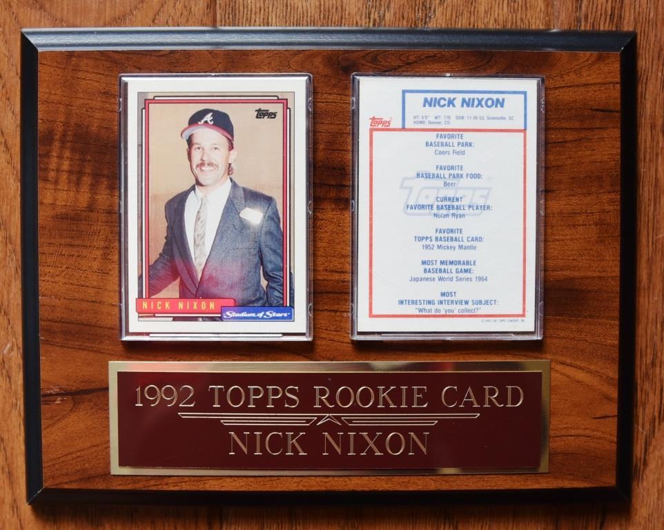 "In 1992 The TOPPS® Card Company was nice enough to take sports figures such as Larry King, LeRoy Neiman, Bob Costas, John Wooden, among others. for their ""Stadium of Stars"" small batch baseball card."