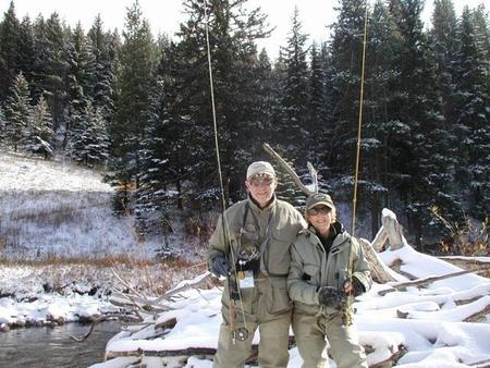John & Bette fly fishing in Beaver Creek, Colorado