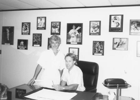 Nick & Robin Tempas at the Amazing Sports office on 6th & Broadway